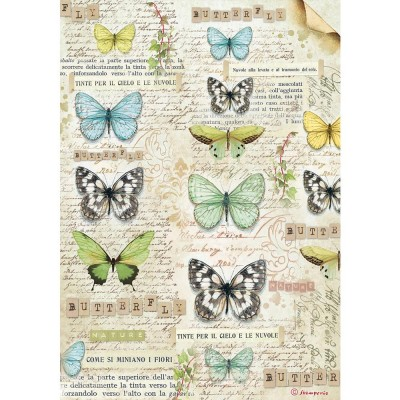 Stamperia - Papier de riz «Butterfly»