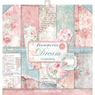 """Stamperia  -  Papier 12"""" X 12"""" «Dream», 10 feuilles double- face"""