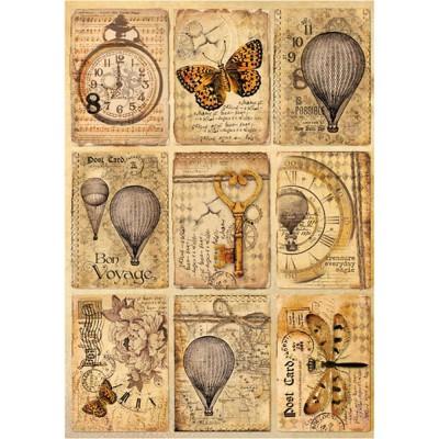 Stamperia - Papier de riz «Mixed Media Postcards»