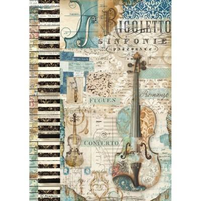 Stamperia - Papier de riz «Music Violin»