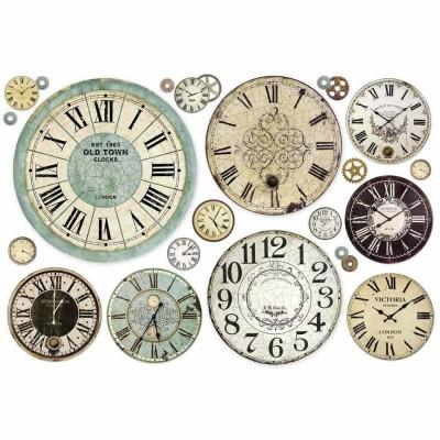 Stamperia - Papier de riz «Clock»