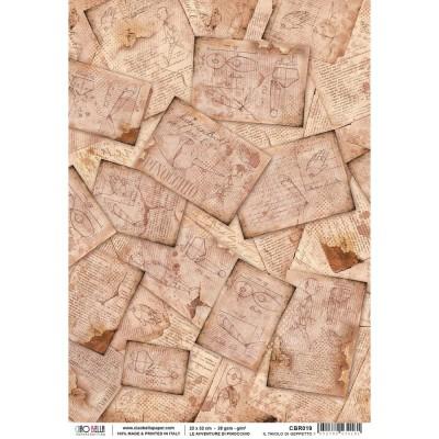 "Ciao Bella - Papier de riz «Pinocchio»  8.5"" X 11"""