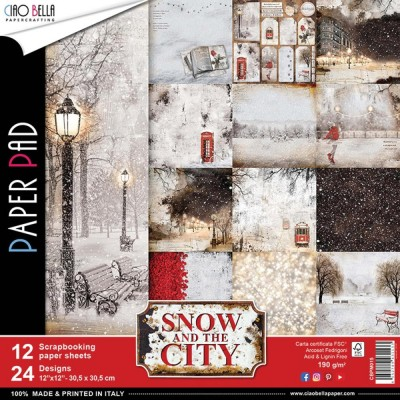 "Ciao Bella - Collection de papier «Snow & The City»  12"" X 12"" recto-verso 12 feuilles"