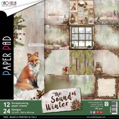 "Ciao Bella - Collection de papier «Sound Of Winter»  12"" X 12"" recto-verso 12 feuilles"