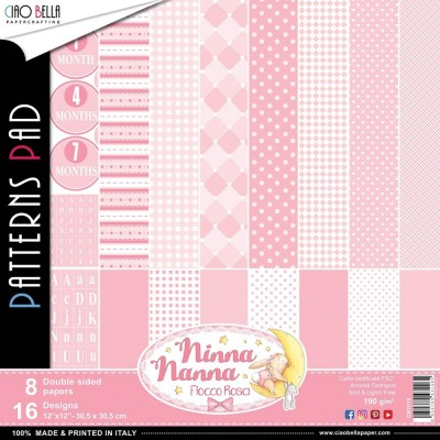 "Ciao Bella - Collection de papier «Ninna Nanna Girl»  12"" X 12"" recto-verso 8 feuilles"