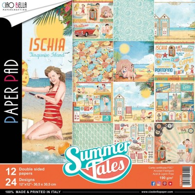 "Ciao Bella - Collection de papier «Summer Tales»  12"" X 12"" recto-verso 12 feuilles"