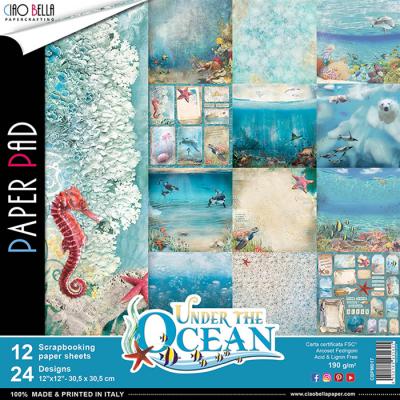 """Ciao Bella - Collection de papier «Under the Ocean»  12"""" X 12"""" recto-verso 12 feuilles"""