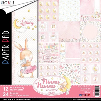 "Ciao Bella - Collection de papier «Ninna Nanna Girl»  12"" X 12"" recto-verso 12 feuilles"