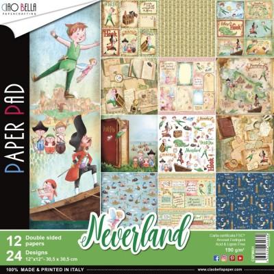 """Ciao Bella - Collection de papier «Neverland »  12"""" X 12"""" recto-verso 12 feuilles"""