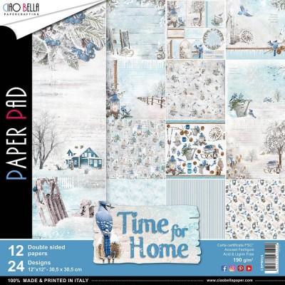 """Ciao Bella - Collection de papier «Time for Home»  12"""" X 12"""" recto-verso 12 feuilles"""
