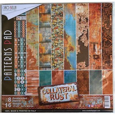 """Ciao Bella - Collection de papier 12"""" X 12"""" recto-verso 8 feuilles «Collateral Rust»"""