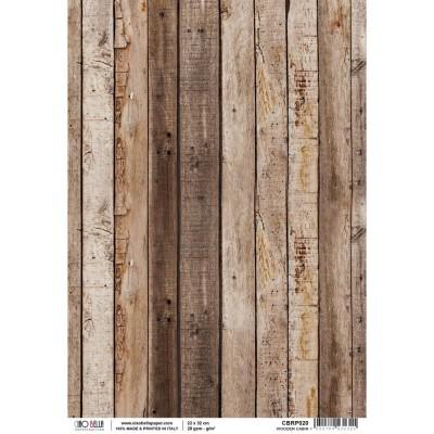 """Ciao Bella - Papier de riz «Wooden Cabin, Woodland»  8.5"""" X 11"""""""