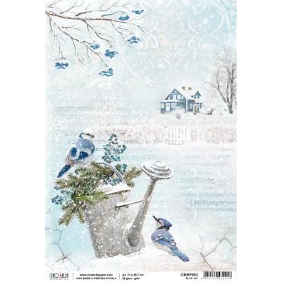 "Ciao Bella - Papier de riz «Blue Jay»  8.5"" X 11"""