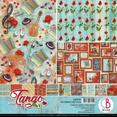 """Ciao Bella - Collection de papier 12"""" X 12"""" recto-verso 8 feuilles «Tango»"""