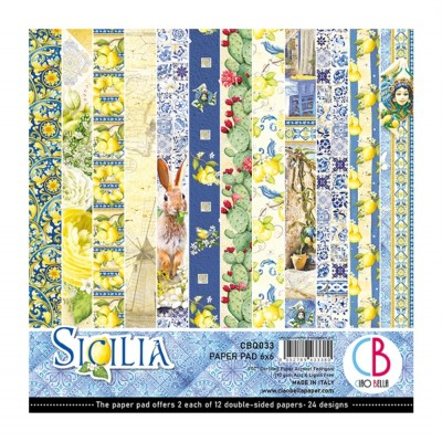 "Ciao Bella - Collection de papier «Sicilia»  6"" X 6"" recto-verso 24 feuilles"