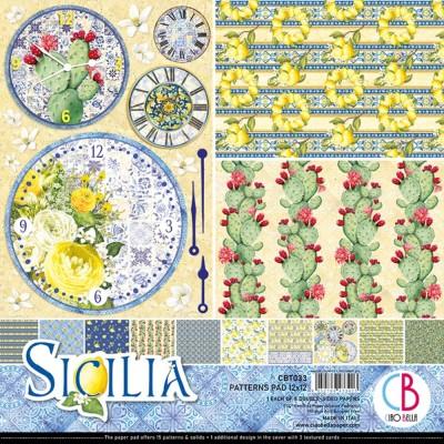 "Ciao Bella - Collection de papier 12"" X 12"" recto-verso 8 feuilles «Sicilia»"