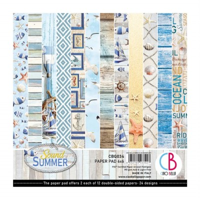 "Ciao Bella - Collection de papier «The Sound Of Summer»  6"" X 6"" recto-verso 24 feuilles"