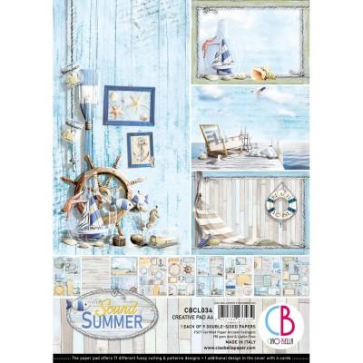 """Ciao Bella - Collection de papier 8.3 x 11.7 pouces""""  «Sound Of Summer» 9 feuilles recto-verso"""