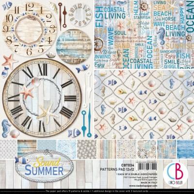 """Ciao Bella - Collection de papier 12"""" X 12"""" recto-verso 8 feuilles «Sound of summer»"""