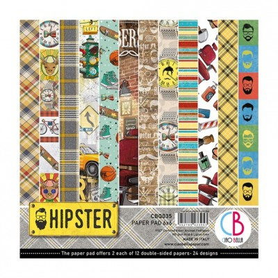 "Ciao Bella - Collection de papier «Hipster»  6"" X 6"" recto-verso 24 feuilles"