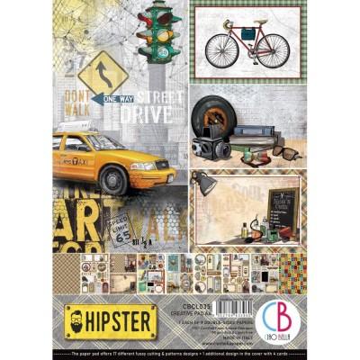 """Ciao Bella - Collection de papier 8.3 x 11.7 pouces""""  «Hipster» 9 feuilles recto-verso"""