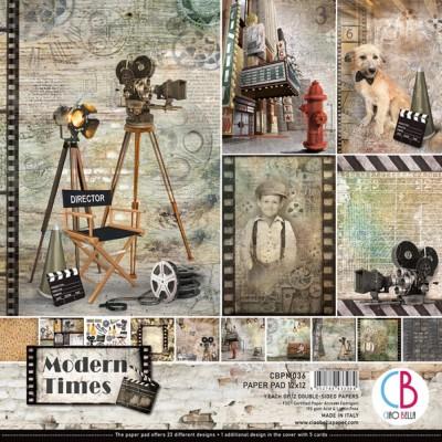 """Ciao Bella - Collection de papier 12"""" X 12""""  « Modern times» 12 feuilles recto-verso"""