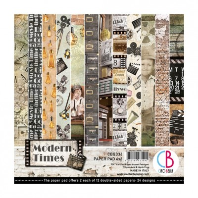 "Ciao Bella - Collection de papier «Modern Times»  6"" X 6"" recto-verso 24 feuilles"