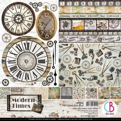 """Ciao Bella - Collection de papier 12"""" X 12"""" recto-verso 8 feuilles «Modern Times»"""