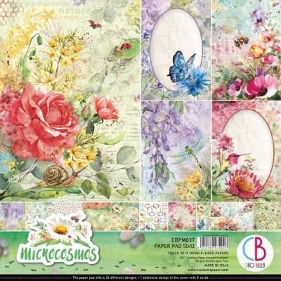 """Ciao Bella - Collection de papier 12"""" X 12""""  «Microcosmos» 12 feuilles recto-verso"""