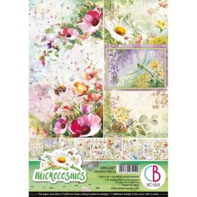 """Ciao Bella - Collection de papier 8.3 x 11.7 pouces""""  «Microcosmos» 9 feuilles recto-verso"""