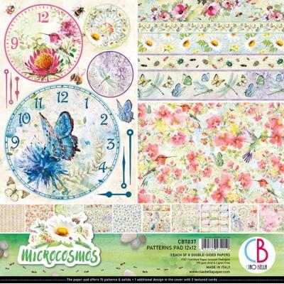 """Ciao Bella - Collection de papier 12"""" X 12"""" recto-verso 8 feuilles «Microcosmos»"""