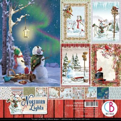 """Ciao Bella - Collection de papier 12"""" X 12""""  « Northern Lights» 12 feuilles recto-verso"""