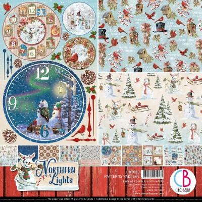 """Ciao Bella - Collection de papier 12"""" X 12"""" recto-verso 8 feuilles «Northern Lights»"""