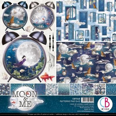 """Ciao Bella - Collection de papier 12"""" X 12"""" recto-verso 8 feuilles «Moon & Me»"""