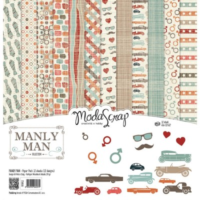 "Elizabeth Craft - «Manly Man» ensemble de papier Moda Srap 12 feuilles 12"" X 12"""