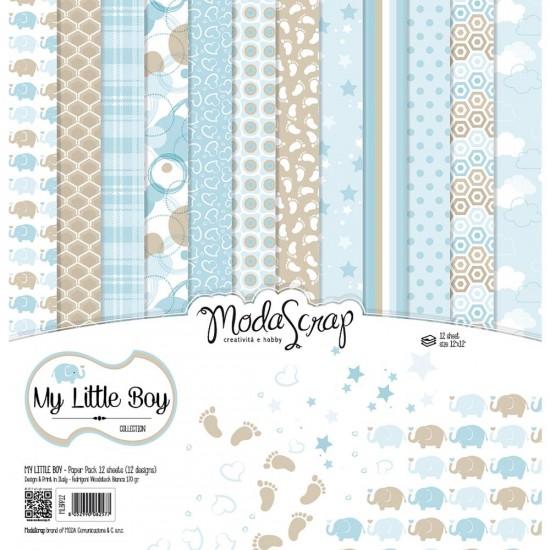 """Elizabeth Craft - «My Little Boy» ensemble de papier Moda Srap 12 feuilles 12"""" X 12"""""""
