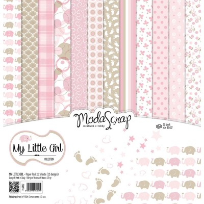 "Elizabeth Craft - «My Little Girl» ensemble de papier Moda Srap 12 feuilles 12"" X 12"""