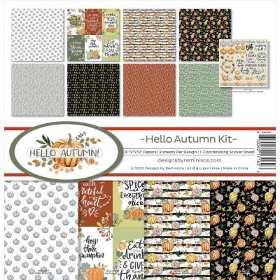 """Reminisce - Collection de papier «Hello Autumn» 12""""X 12"""" 8 feuilles"""