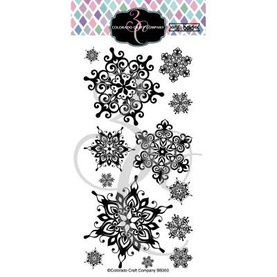 Colorado Craft Company - Estampe claires «Nordic Snowflakes» 13 pcs