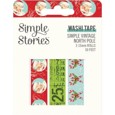 Simple Stories - Ensemble de washi tape collection «North Pole» 3 rouleaux