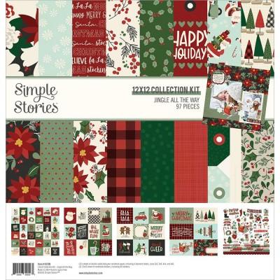 """Simple Stories - ensemble de papier «Jingle All The Way» 12"""" X 12"""" recto-verso 12 feuilles"""