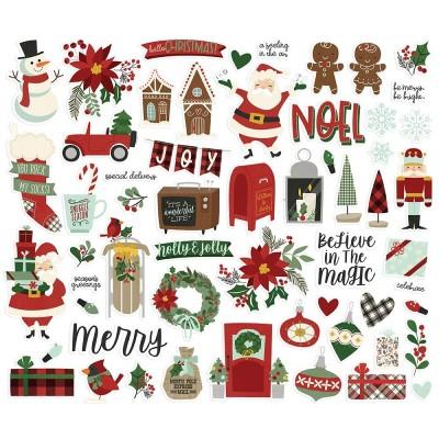 Simple Stories - Éphéméras «Jingle all the way» 57 pcs