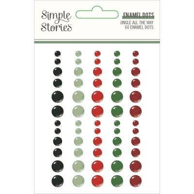 Simple Stories - Enamel dots «Jingle all the way» 60/ Pqt