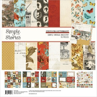 "Simple Stories - Ensemble de papier «Simple Vintage Ancestry» 12 ""X12"" recto-verso 12 feuilles / Pqt"