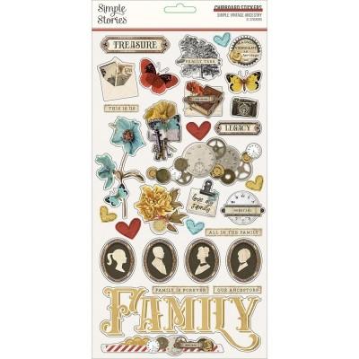 Simple Stories - Éphéméras autocollants «Vintage Ancestry» 31 / Pqt