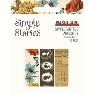 Simple Stories - Ensemble de washi tape collection «Vintage Ancestry» 3 rouleaux