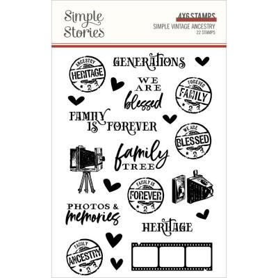 Simple Stories - Estampes «Simple Vintage Ancestry» 22 pièces