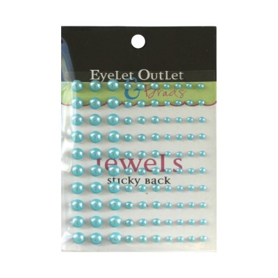 Eyelet outlet - «Adhesive Pearls» couleur «Blue» 100/ emballage