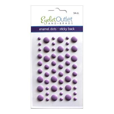 Eyelet outlet -  Enamel Dots autocollant «Matte Violet» 54 / emballage