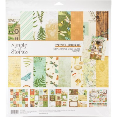 "Simple Stories - Ensemble de papier «Great Escape» 12 ""X12"" recto-verso 12 feuilles / Pqt"